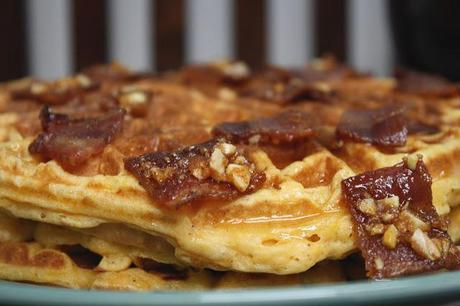 on Sweet Potato Waffles with Candied Bacon... - Paperblog