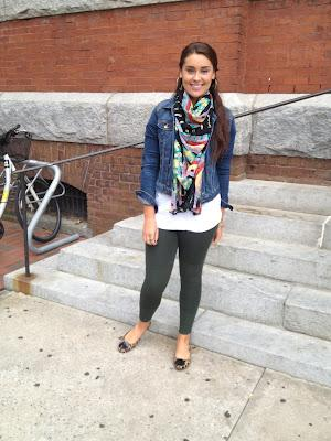 SCARVES THE LIMIT: Check Out This Fashionista's Fall Look!