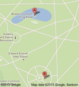map for off leash area of boston common