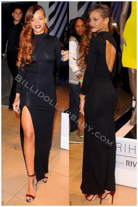 Celeb Style: Rihanna was spotted at her official launch in...