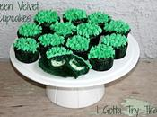 Green Velvet Cupcakes with Clovers