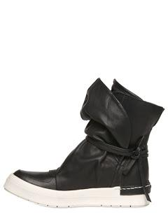 Wrapped and Tied:  Cinzia Araia Leather High Sneakers