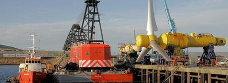 Alstom Tidal turbine installation at European Marine Energy Centre's (EMEC) tidal test site in Orkney (Credit: Alstom)