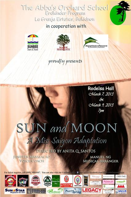 Tomorrow is the day!!  SUN and MOON: A Miss Saigon Adaptation