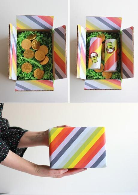 St. Patrick's day candy poppers & care package