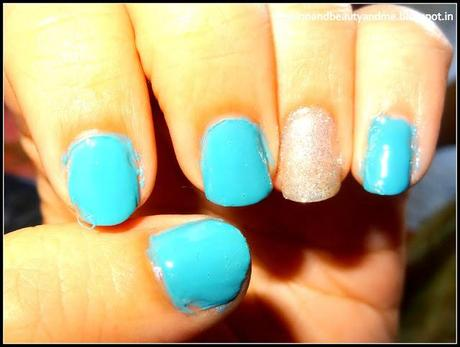 On my nails today #4 Turquoise