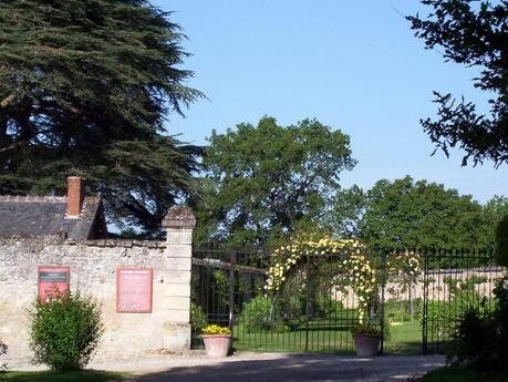 Entrance gate to the flower gardens at the Château de la Bourdaisière in France