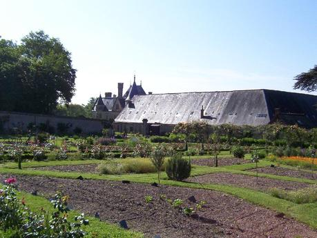 Gardens at the Château de la Bourdaisière in France