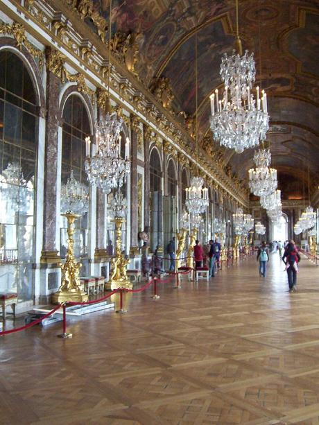 Hall of Mirrors, chandeliers - Palace of Versailles - France