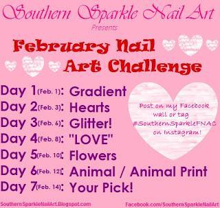 February Nail Art Challenge - Hearts