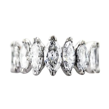 4 carat marquise diamond and platinum eternity band