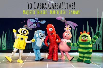 Yo Gabba Gabba Live @ the Majestic Theatre Mar. 16th!
