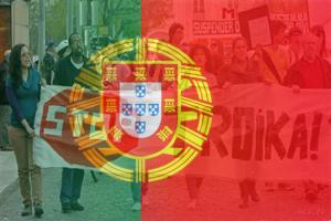 Portugal protest flag