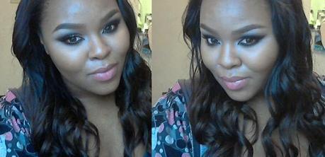 Black Cut Crease Glitter Makeup