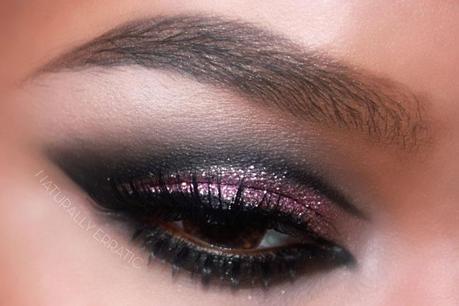 Makeup | Pink and Black Glitter Makeup