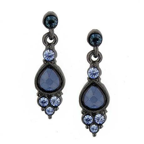 28941Smoky Blue: Earrings of the Day!