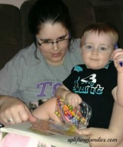 Mommy and Baby Boy Coloring