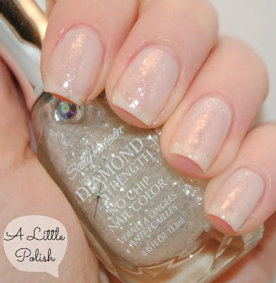 OPI - Don't Touch My Tutu with Sally Hansen - Glass Slipper