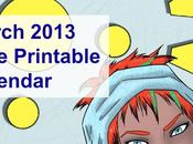 March 2013 Free Printable Calendar