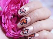 Simple Butterfly Nail With Acrylic Paints Video Tutorial