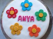 Flower Rainbow Birthday Cake