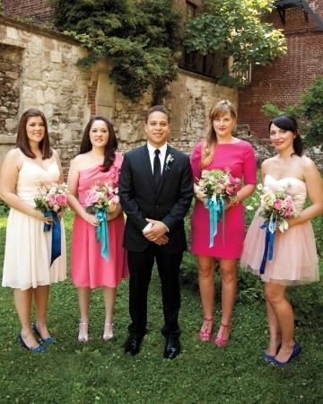 Male Bridesmaid Wearing A Dress