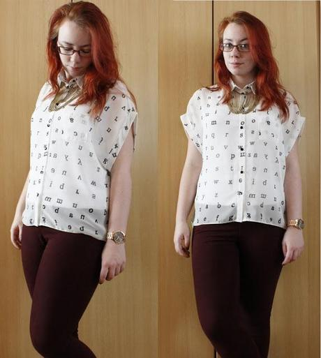 Outfit post #2 - ABC as easy as 1, 2, 3...