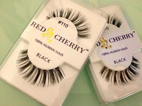 Red Cherry False Eyelashes 'Haul'