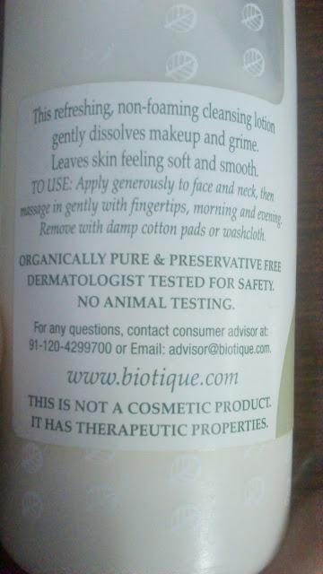 Biotique Berberry Refreshing Cleansing Lotion - Review