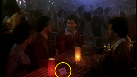 On a non-fashion-related note, here's a small detail that shows just how much Tony is adored at 2001: The table he and his friends always sit at is reserved for them. I didn't notice those cards on any of the other tables in the club.