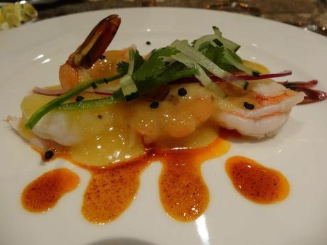 Mango Shrimp  at Villa del Palmar at the Islands of Loreto