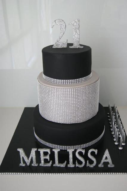 Remarkable A Black And Silver Themed 21St Birthday By Cakes Mary Makes Personalised Birthday Cards Epsylily Jamesorg