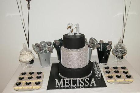 A Black And Silver Themed 21st Birthday By Cakes Mary