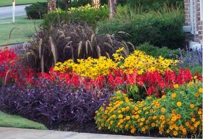 Layered Flower Bed Flower Beds