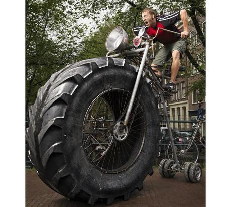 gigantic tractor tire bicycle paperblog