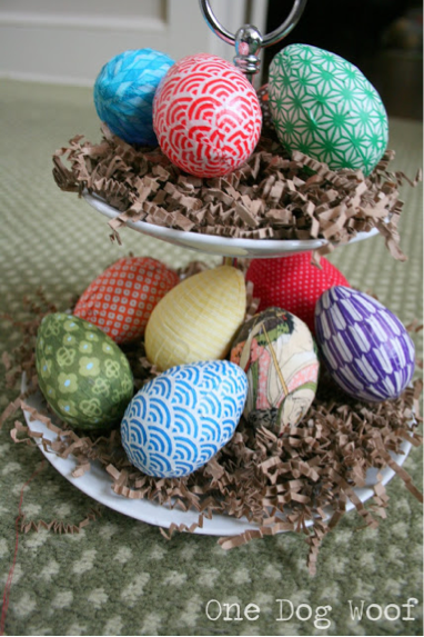 DIY Fabric Covered Easter Egg