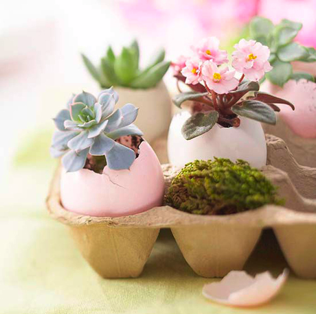 DIY decorative easter egg planter