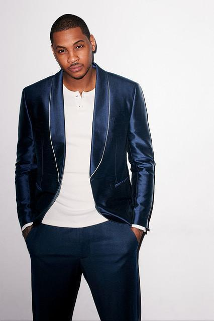 New York Knicks star, Carmelo Anthony covers WSJ. Magazine April...