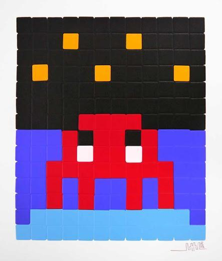 Invader 'Space One' Prints