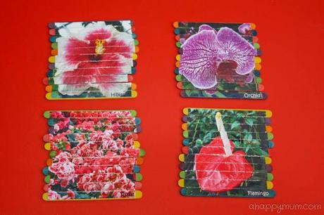 Creativity 521 {linky party} #18 - Flower puzzles