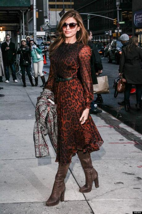 eva mendes letterman show trends 2013 march covet her closet celebrity fashion where to buy get it what is wearing