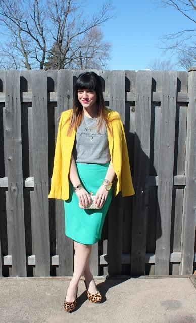 Outfit: Yellow, Gold, Green, & Leopard Print