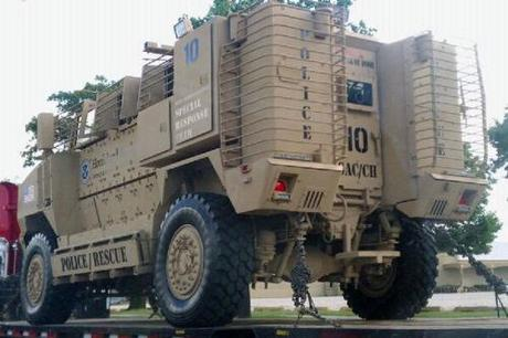 DHS armored vehicle