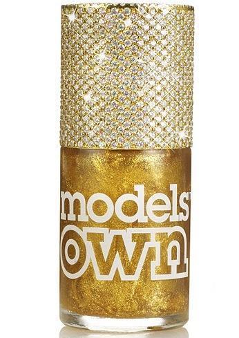 models own gold nail polish, gold nail polish, rela gold nail polish, gold flake nail polish