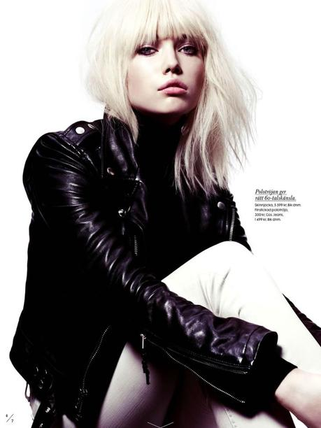 Elsa Fredriksson by Peter Gehrke for Elle Sweden April 2013 2