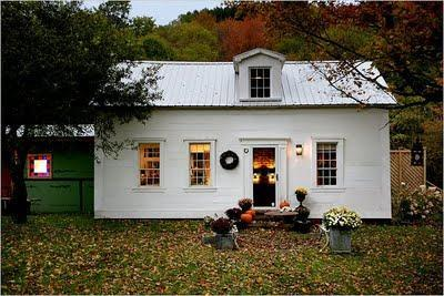 This little farm house in the Catskills..... old wooden a...