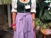 Donning Dirndl Austrian Dress