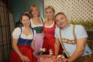 The team from the Austrian National Tourism Office looking chic in their national costume