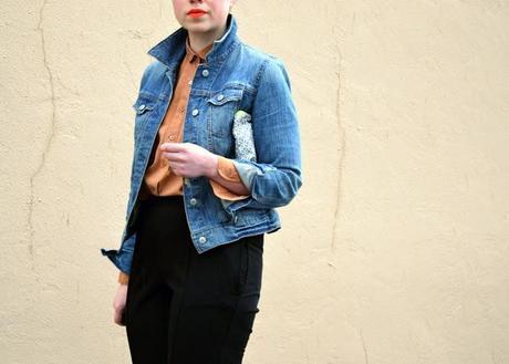 seattle, street style, spring 2013, neon lips, fleur d'elise, denim jacket