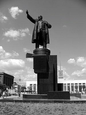 The statue of Lenin in front of Finland Statio...